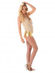 Popstar Kostüm sexy golden für Damen