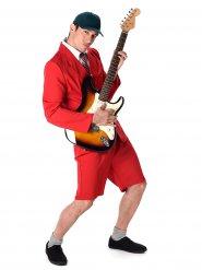 Kostüm Rockstar rot Herren