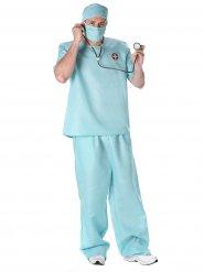 Kostüm Arzt Chirurg blau für Herren