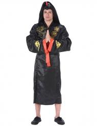 Samurai schwarz und gold Kostüm für Erwachsene