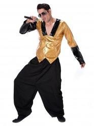 80er Rapper Kostüm schwarz