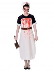 Blutige Krankenschwester Kostüm Damen Halloween