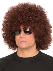 Afro Perücke braun Erwachsene