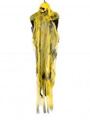 Gelbe Skelett Hängedeko Halloween 60 cm