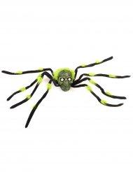 Riesenspinne für Halloween grün-schwarz 70 cm
