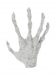 Hand mit Pailletten Dekoration Halloween