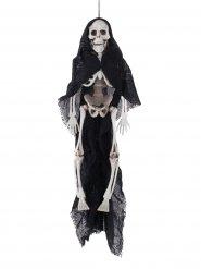 Hängedeko schwarzes Umhang Skelett Halloween 40 cm