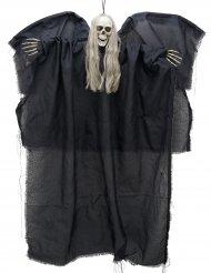 Halloween-Hänge-Dekoration - Todesengel - Schwarz, 110 cm, leuchtet im Dunklen