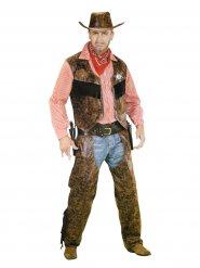 Wilder Cowboy Herrenkostüm braun-rot-weiss
