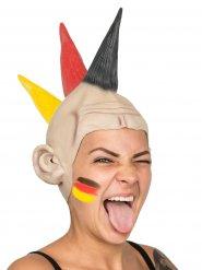 Deutschland Latex Punk-Perücke schwarz-rot-gelb