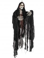Skelett Hängedeko schwarz Halloween 91 cm