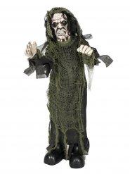 Skelett Totengräber-Deko animiert Halloween grün-grau