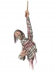 Leuchtende Zombie Deko-Figur zum Aufhängen 80 cm Halloween