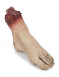 Abgehackter Fuß Leichenteil beige-rot