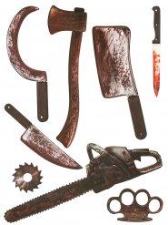 Wandsticker blutige Waffen Halloween 75x70 cm