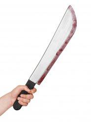 Blutige Halloween-Machete grau-schwarz-rot