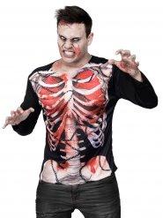 Halloween T-Shirt Zombie Skelett