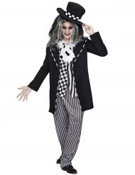 Verrücktes Hutmacher-Kostüm für Herren in schwarz-weiß