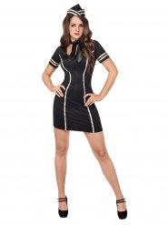 Sexy Kostüm Stewardess für Damen