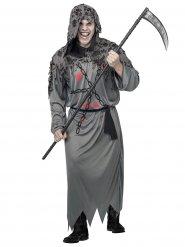 Sensenmann Kostüm für Herren grau-schwarz-rot