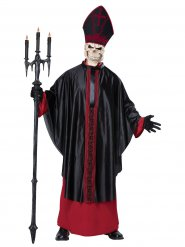 Besessener Horror-Papst Halloween-Kostüm für Herren schwarz-rot