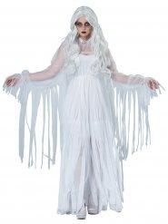 Gespenstisches-Damenkostüm für Halloween Geist weiss