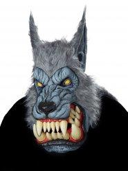 Übergroße Werwolfmaske für Halloween grau