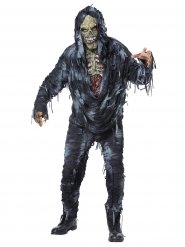Verwester Zombie Herrenkostüm für Halloween bunt