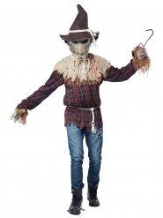 Gefährliche Vogelscheuche Kostüm für Halloween braun-rot