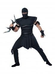 Kämpferischer Ninja Krieger Herrenkostüm Asien schwarz