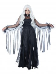 Edle Geisterbraut Damenkostüm schwarz-grau