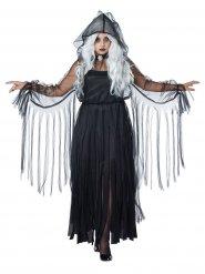 Elegantes Halloween-Kostüm für Damen schwarz