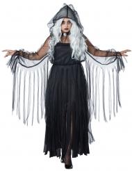 Plus Size Geister-Kostüm für Damen schwarz Halloween