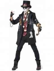 Schauriger Voodoo-Priester Herrenkostüm für Halloween schwarz-rot