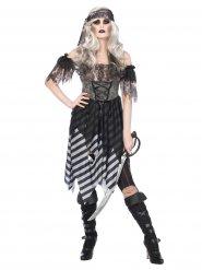 Sexy Piraten-Kostüm für Damen im gotischen Look