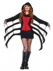 Giftige Spinne Halloween-Damenkostüm schwarz-rot