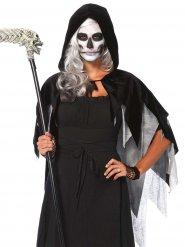 Luxuriöser Halloween-Umhang grau-schwarz