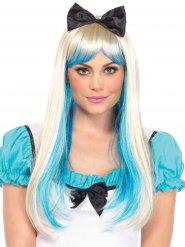 Märchen-Perücke für Damen mit Schleife blond-blau