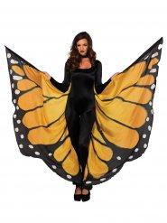 Übergroße Schmetterlingsflügel Kostüm-Umhang gelb-schwarz-weiss