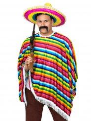 Mexiko-Poncho Faschings-Zubehör bunt