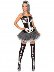 Sexy Skelett-Kostüm für Damen