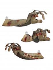 Dekoration Hand eines Zombie 3D grau