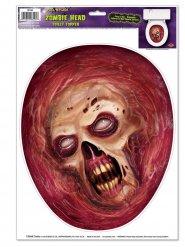 Zombie-Sticker für die Toilette rot-beige