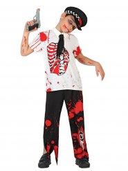Zombie Polizist Kostüm für Kinder