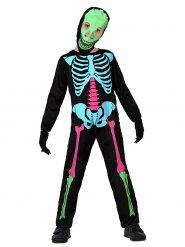 Farbenfrohes Skelett Kostüm für Kinder