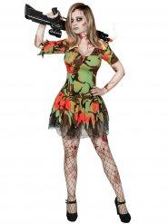 Militär-Zombie Halloween Damenkostüm bunt