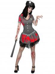 Zombie Polizistin Halloweenkostüm für Damen