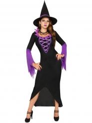 Hexenkostüm für Damen schwarz-lila