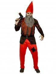 Horror-Zwerg Halloweenkostüm rot-schwarz