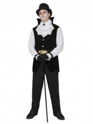 Gentleman Vampir-Kostüm schwarz-weiss